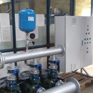 Grup pompare apa industriala, cu turatie variabila, 3 x 90 mch, 35 mCA